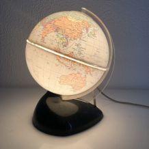 Globe terrestre lampe Bakélite vintage 1960 - 25 cm