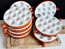Assiettes à escargots - service à escargots vintage.