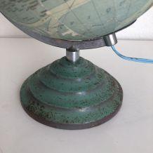 Globe terrestre verre Perrina vintage 1950 -  31 cm