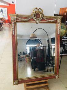 Miroir Rouge et Or