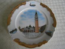 Assiette décorative Venezia Piazza S.Marco