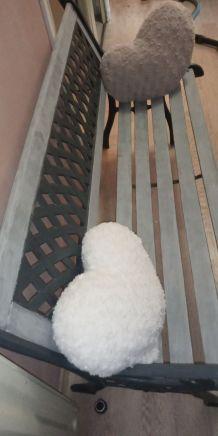Ancien banc bois fer forgé