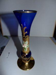Petit vase verre et doré
