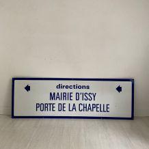 """Plaque de métro parisien""""Mairie d'Issy-Porte de la Chapelle"""""""