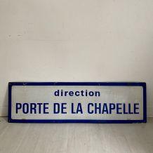 """Plaque de métro parisien """"Porte de la Chapelle"""""""