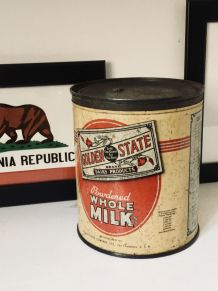 Boîte tôle vintage GOLDEN STATE ration US Army