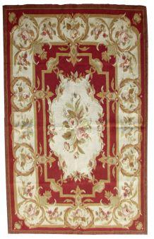 Tapis vintage Français Aubusson rug, 1Q0271