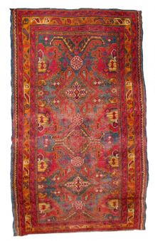 Tapis antique Turc  Oushak fait main, 1Q0278