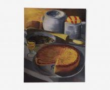 Nature morte - La Tarte - Huile sur toile 1940 - signé