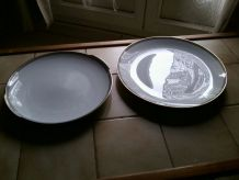 LOT  2 grands plats  en porcelaine  WINTERLING BAVARIA