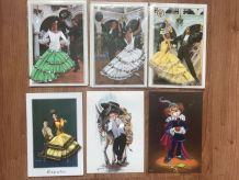 Cartes postales tissus