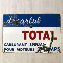 """Plaque émaillée """"Total Docarlub"""" vintage 60's"""