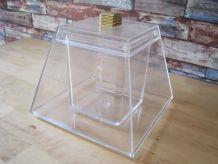 grande boite en plastique épais plexiglas style art déco