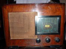 Ancien poste radio TSF à lampes (années 1930-40)