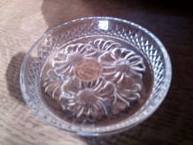 Coupelle  aux marguerites à compartiment en cristal d'Arques