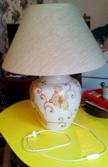Lampe céramique fleurie Hubert Olivier