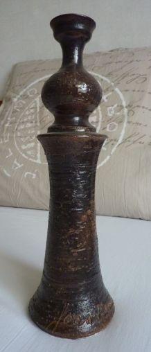 Bougeoir en céramique signé Jean Marais authentique Vallauri