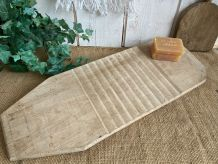 Planche à laver en bois brut