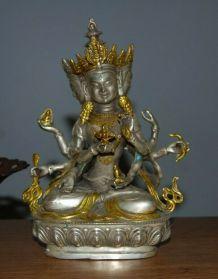 Statue sinotibétaine d'Oushnisha bouddha bouddhisme