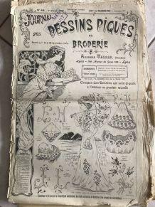 """Revues """"DESSINS PIQUÉS EN BRODERIE"""" années 1900"""