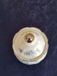 Service café porcelaineMitterteich numéroté blanc bleu