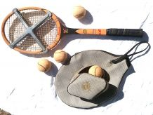 raquette  de  tennis + accesoires vintage