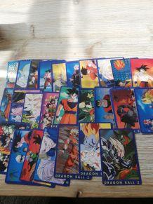 lot de cartes dragon ball z