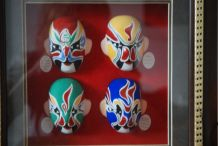 Cadre Art chinois masques