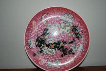 Assiette art chinois chiens