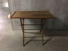 Table pliante en bois années 40