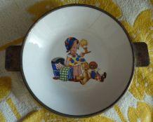 Ancienne assiette chauffante pour bébé (années 30)