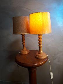 duo de lampes vintage 1960 scandinave un des pied et fendu