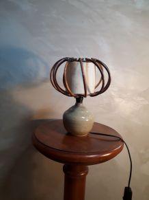 lampe scandinave gres et osier 24x20