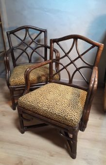 2 fauteuils en rotin. Bon état