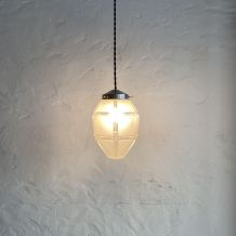 ANCIENNE LAMPE SUSPENSION ART-DECO 14 CM