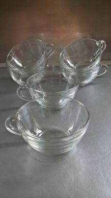 Six tasses à café DURALEX