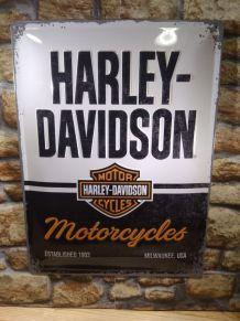 PLAQUE HARLEY DAVIDSON EN RELIEF