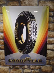PLAQUE METAL GOODYEAR EN RELIEF