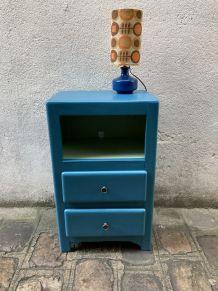 chevet bleu pétrole