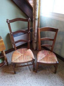 2 chaises basses avec dossiers hauts