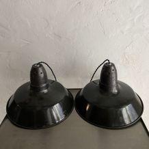 LOT 2 SUSPENSIONS INDUSTRIELLES EMAILLEES 35 cm