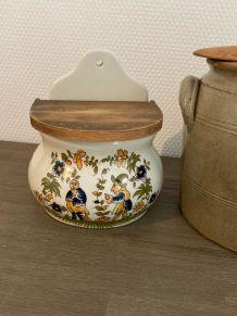 Pot à sel style Moustiers