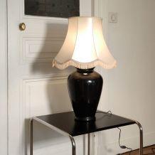 Lampe céramique noire ancienne