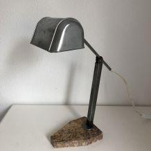 Lampe Artisanat Français marbre vintage 1930 - 45 cm