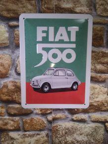 PLAQUE MURALE FIAT 500
