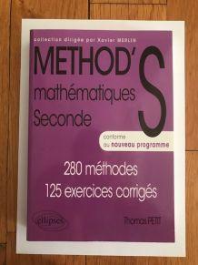 Livre Method's Mathématiques Seconde