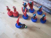 7 jouet figurine nestlé skieur VINTAGE