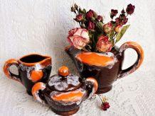 Service à café ou à thé  grés céramique Vallauris.