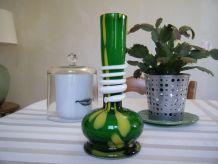 Vase Vintage en verre de Murano style art déco