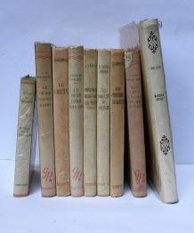 Lot de 9 livres d'aventure pour enfants. Vintage.